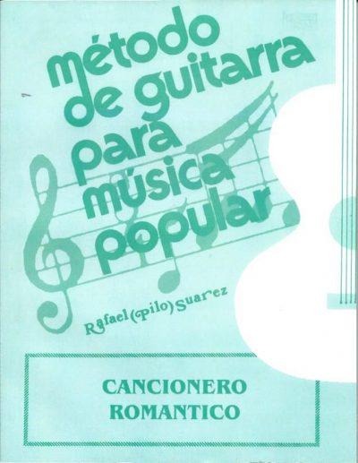 Método de guitarra para música popular Cancionero Romantico