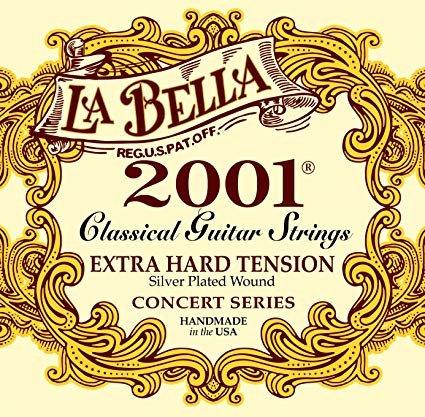 La Bella 2001 Extra Hard Tension Para Guitarra Clásica