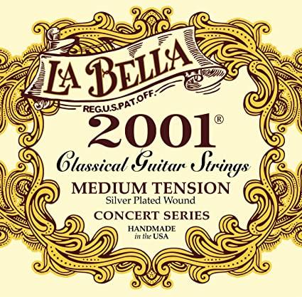 La Bella 2001 Medium Tension Guitarra Clásica