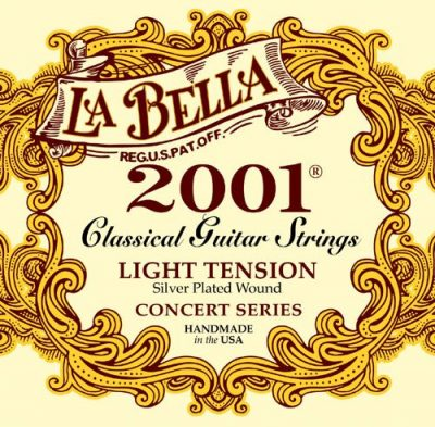 Set de cuerdas para guitarra clásica, marca la Bella 2001 Light Tension Guitarra Clásica