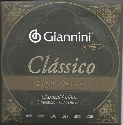 Set Cuerdas Giannini Light Tension para Guitarra Clásica