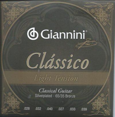 Set Cuerdas Giannini Light Tension para Guitarra Clásica