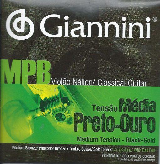 Giannini MPB Negras con bolita para guitarra clasica