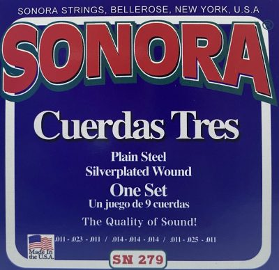 Set de 9 Cuerdas Sonora para Tres Cubano