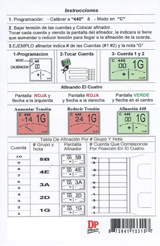 Manual Afinador para Cuatro de Puerto Rico