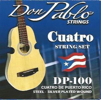 Set Cuerdas Cuatro Puertorriqueño Don Pablo